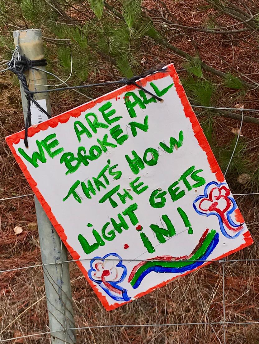 """We Are All Broken, Thats How the Light Gets In"", Camino de Santiago, Spain"