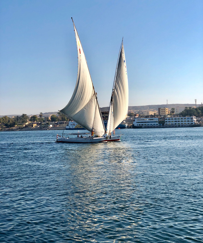 Denial on the Nile, Visiting Temples & Sailing Feluccas in Aswan, Egypt