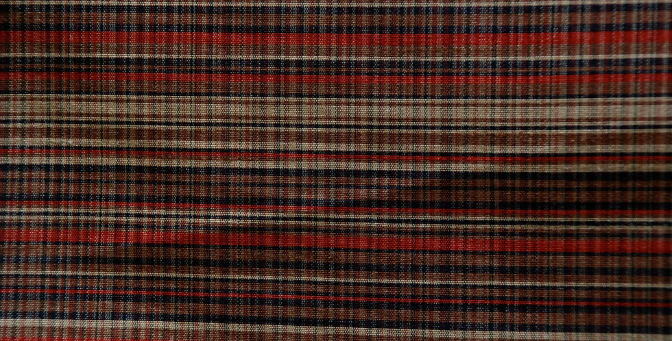 Handsome Plaid Silk Upholstery Fabric