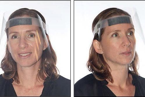 PPE - מגן פנים שקוף מתכוונן פוליאסטר איכותי