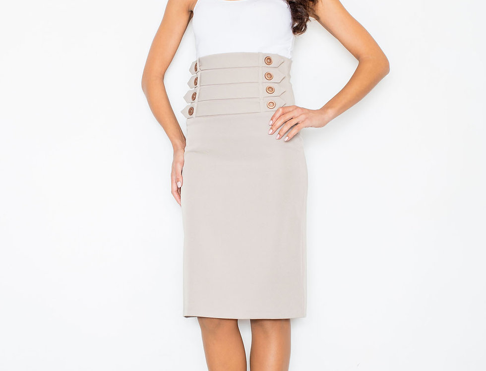 Skirt M036 Beige