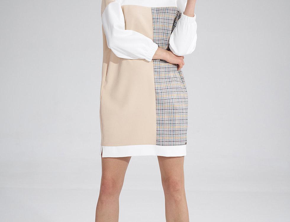Dress M755 Ecru-Beige-Pattern 121