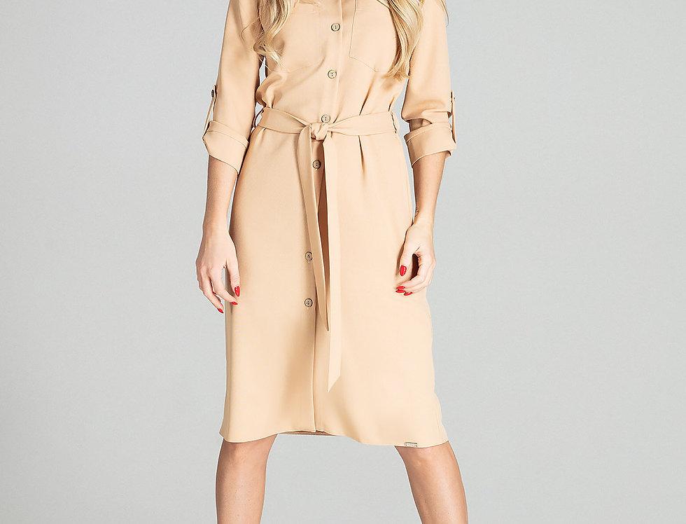 Dress M703 Beige