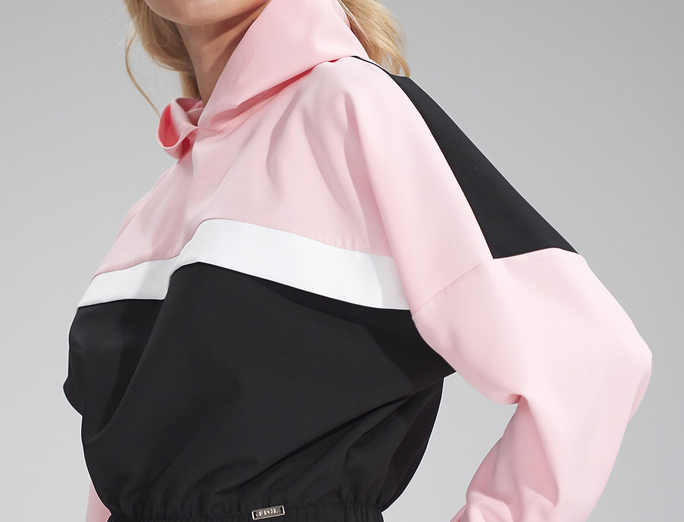 Hoodie M757 Black-Pink