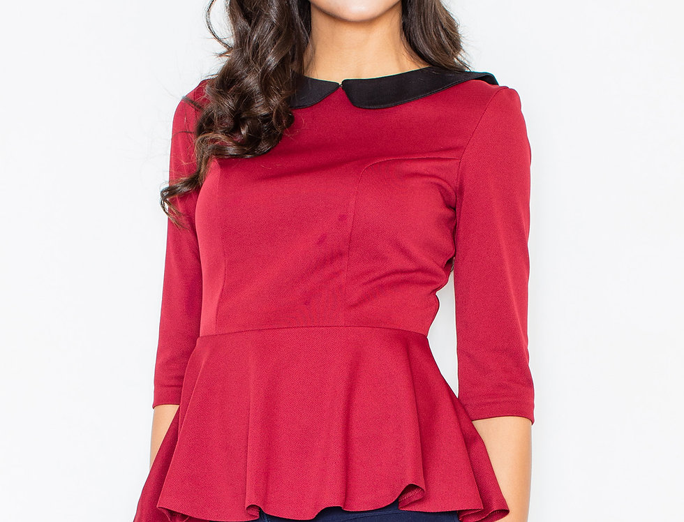 Blouse M161 Deep red