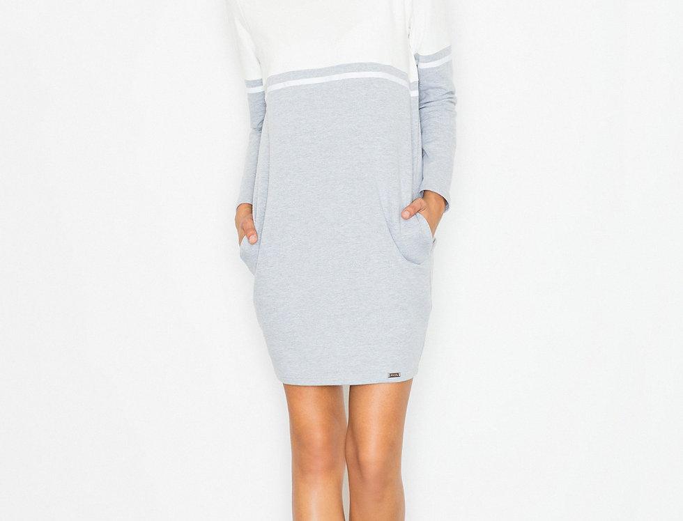 Dress M510 Ecru-Grey