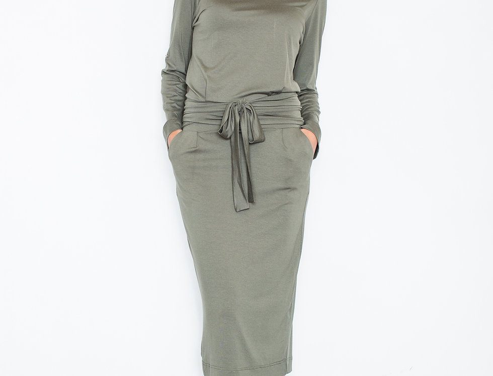 Dress M246 Olive
