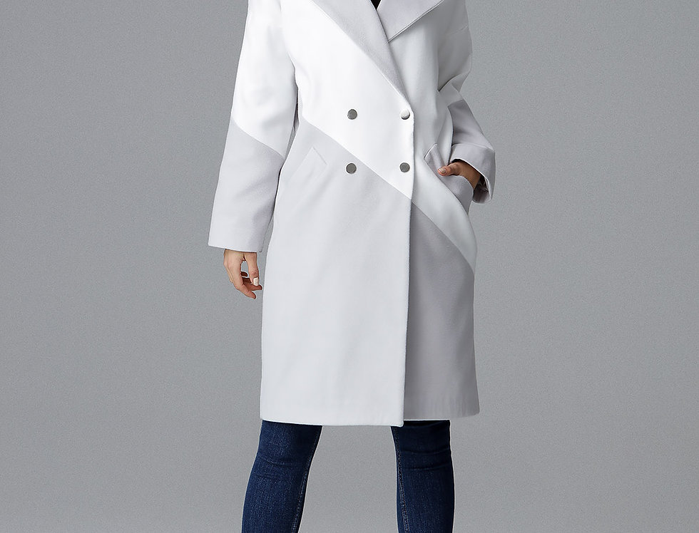 Coat M626 Grey-White
