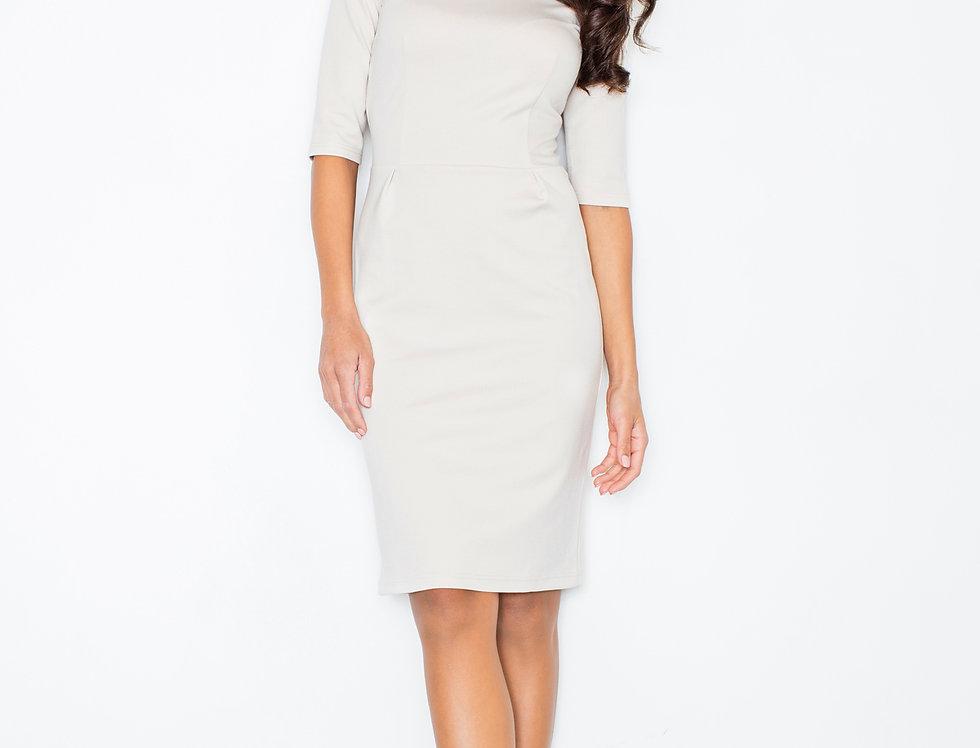 Dress M202 Beige