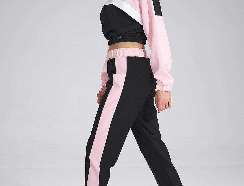 Trousers M756 Black-Pink