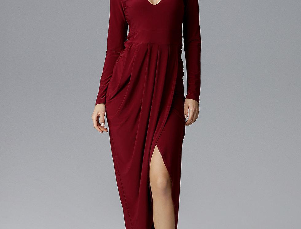 Dress M636 Deep Red