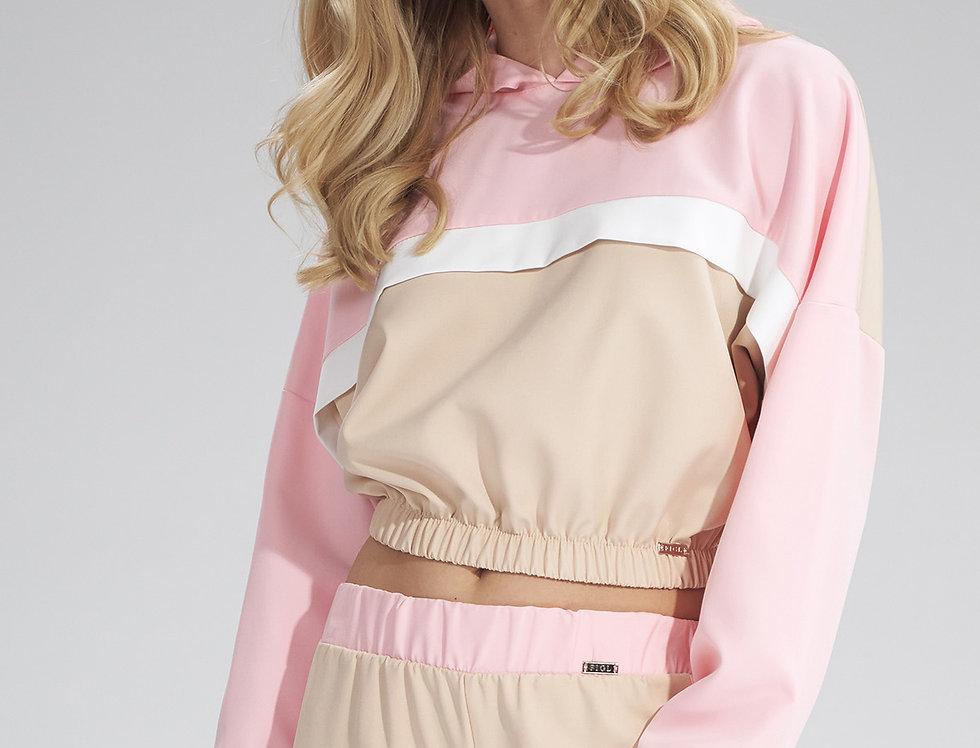 Hoodie M757 Beige-Pink