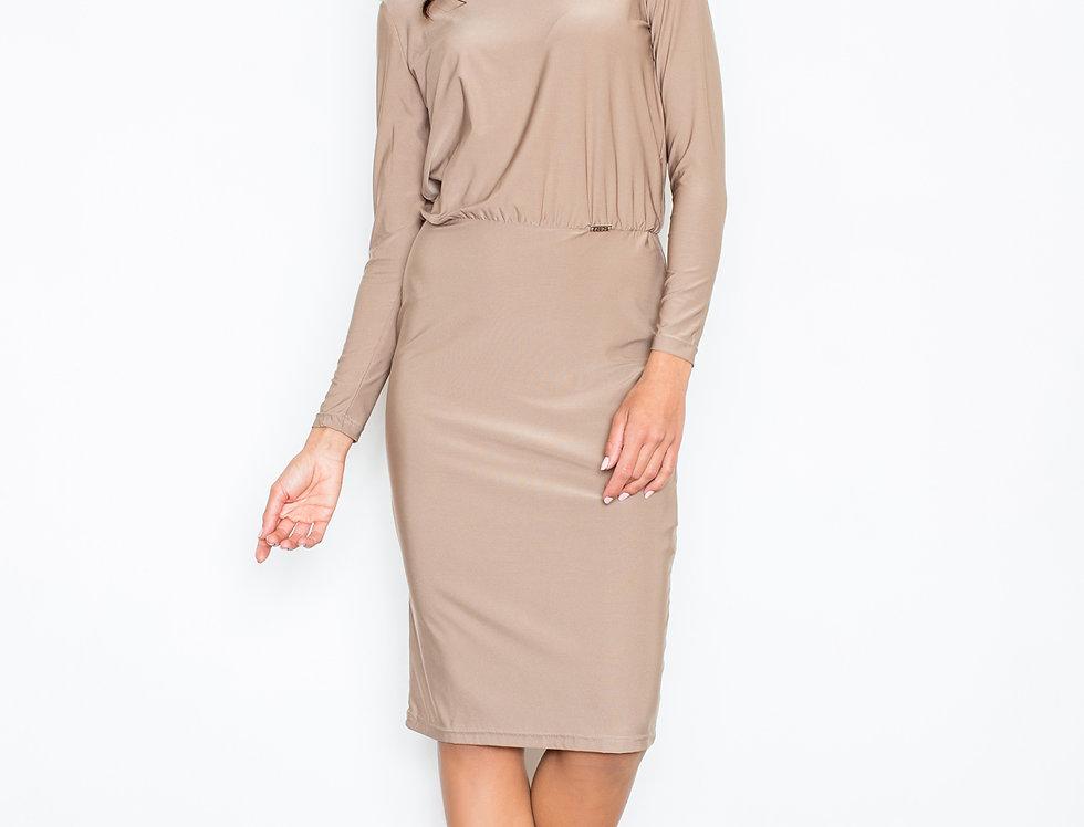 Dress M326 Beige