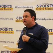 Danny giving a presentation to coaches