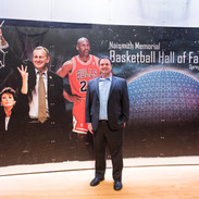 Danny Herz at Basketball Hall of Fame