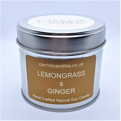 Lemongrass and Ginger Soy Wax Candle