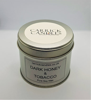 Dark Honey and Tobacco Soy Wax Candle