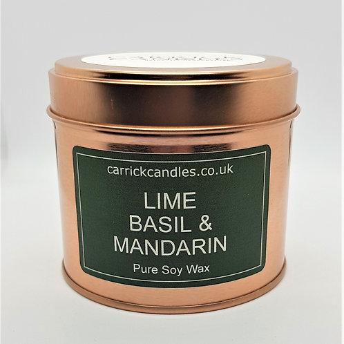 Lime, Basil and Mandarin Soy Wax Candle