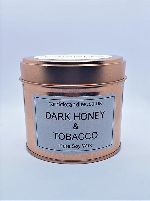 Dark Honey and Tobacco Leaf Soy Wax Candle
