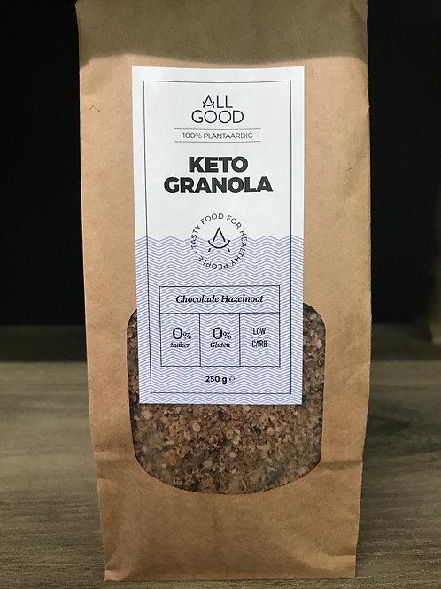 Keto granola (chocolade Hazelnoot)