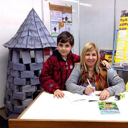 Com o pequeno leitor Pablo na Jornada Nacioal de Literatura de Passo Fundo/RS.