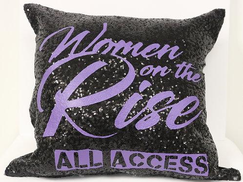 Purple Text Pillow Case