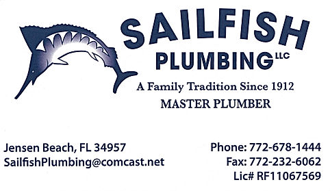 Sailfish Plumbing -service plumbing martin county