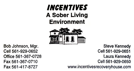 Sober Living Incentives in Boca Raton Florida
