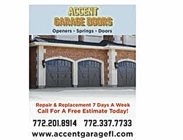 garage doors, openers, spring, st lucie, martin county, accent garage doors