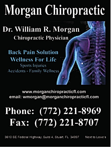 morgan chiropractic, back pain solution, sports injuries, accidents, family wellness martin county stuart fl