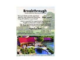 Breakthrough Family addiction and receovery renewal randy couchman