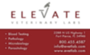 Elevate veterinary labs, all 4 ur addiction, blood testing, microbology,