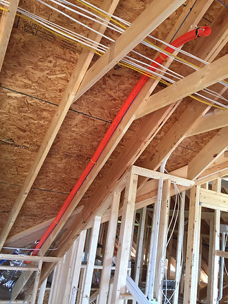 Optimal Tek Structured wiring & low voltage contractor. Add conduit sleeves for future expansion.