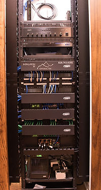 Commercial/SMB network installation full rack