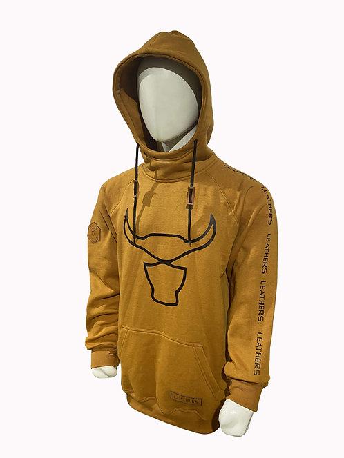 Leathers Hoodie Yellow Tan
