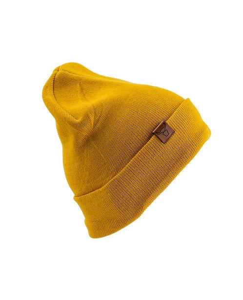 Yellowish Basic Beanie