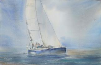 """Sailing in fog"""
