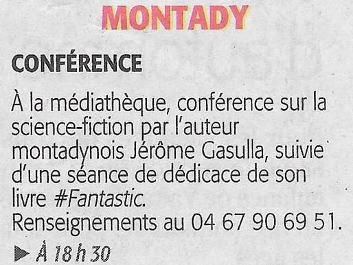 Une conférence...