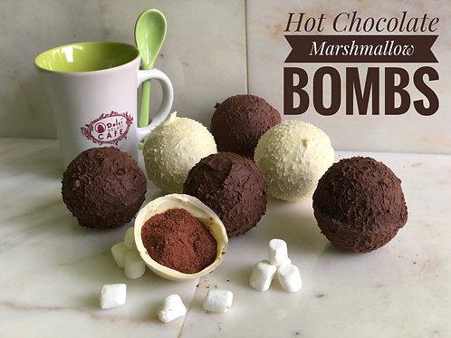 Hot Chocolate Marshmallow Bombs