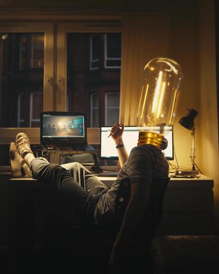 Lightbulb VFX shot