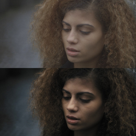 Before and after colour grade