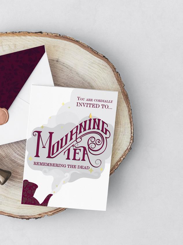 Mourning Tea Invitation