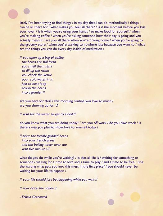 Poem by Felicia Greenwell