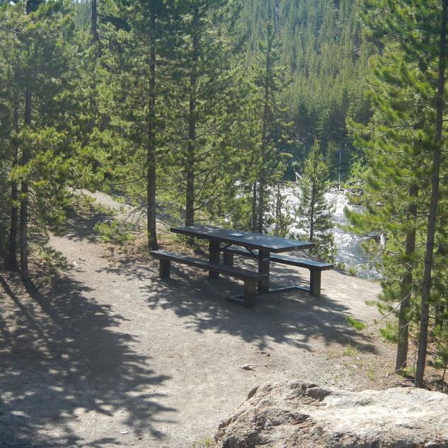 Gibbon Falls Picnic Area In Yellowstone