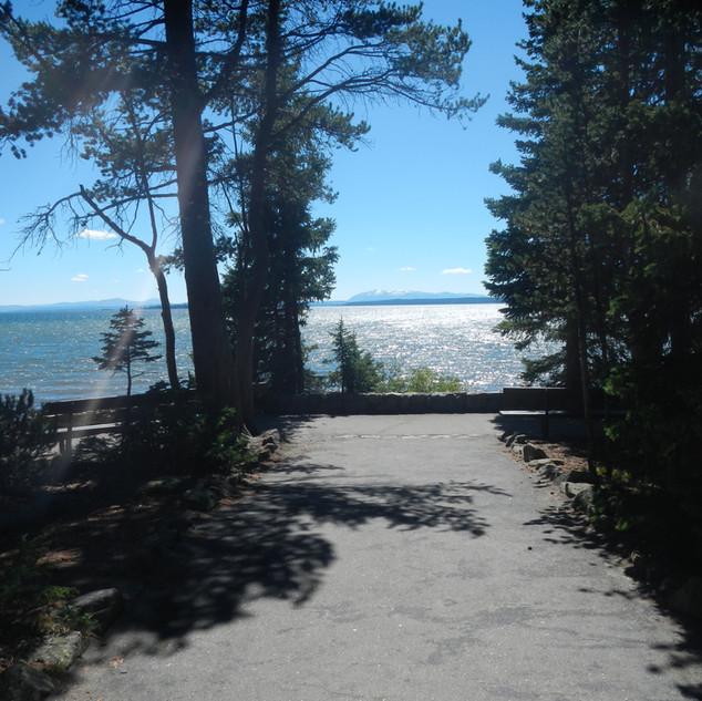 Fishing Bridge Visitor Center Lake View.