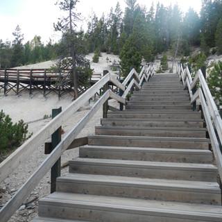Mud Volcano Area Stairs.JPG