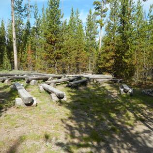 Indian Creek Campground stadium seating.