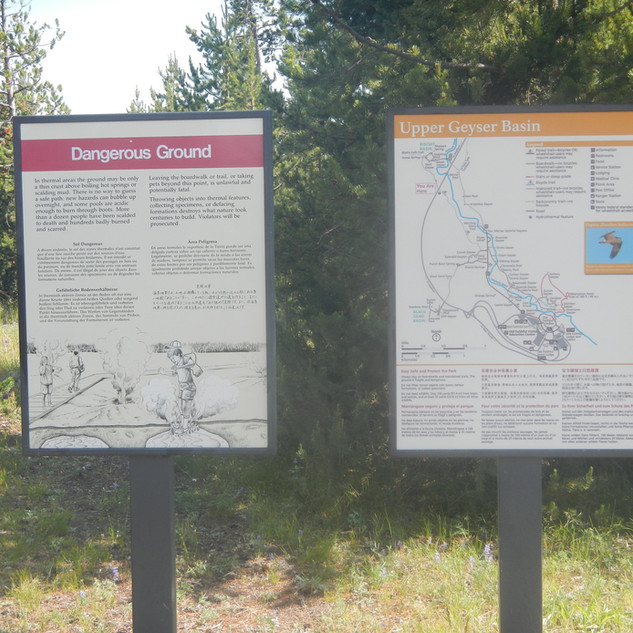 Daisy Geyser Bike Trail Sign.JPG