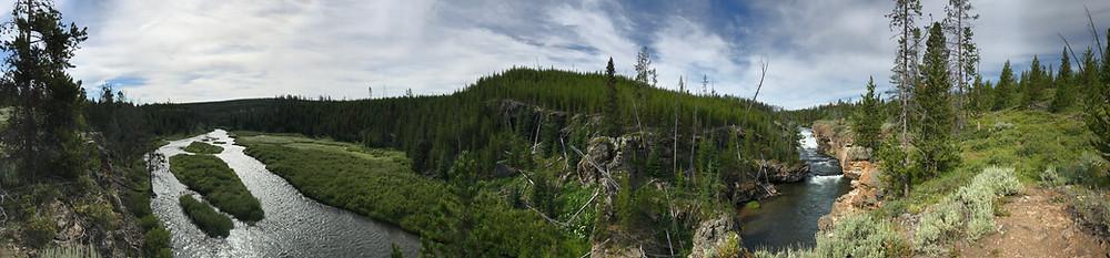 Sheepeater Cliffs and Tukuarika Falls, Yellowstone