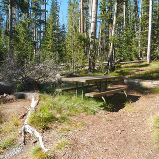 Sylvan Lake Yellowstone Picnic Table.JPG